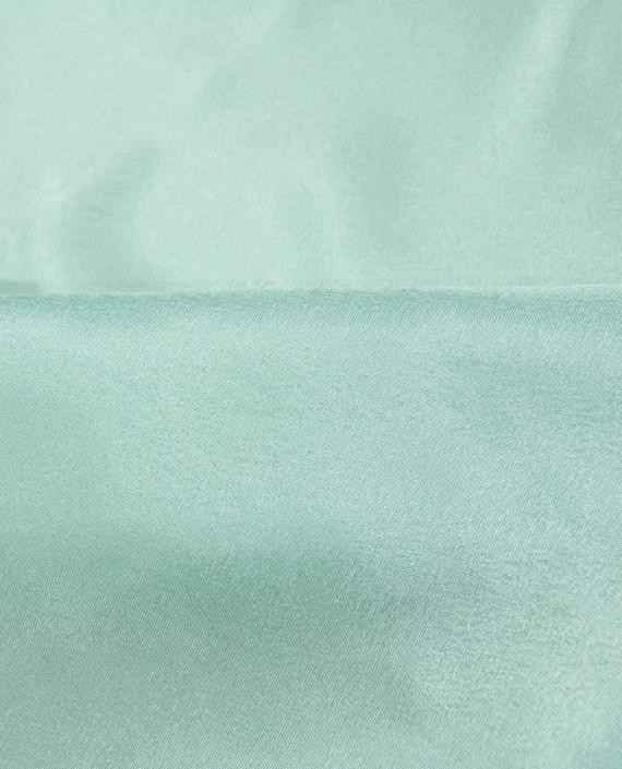 "Ткань Креп-сатин ""Зеленый чай"" 0018 цвет бирюзовый картинка 1"
