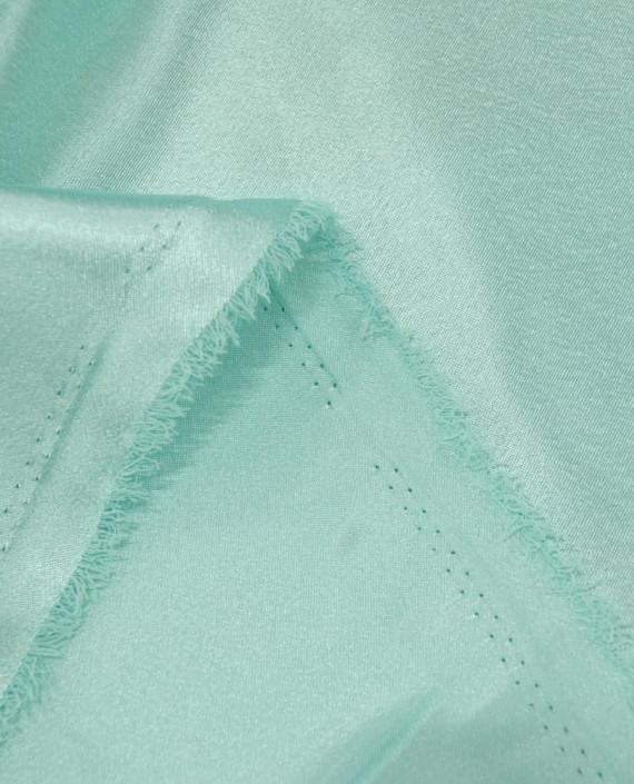 "Ткань Креп-сатин ""Зеленый чай"" 0018 цвет бирюзовый картинка 2"