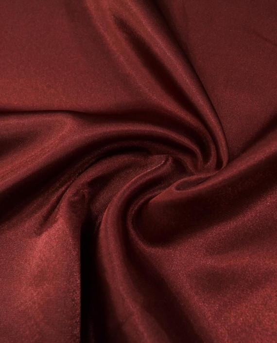 """Ткань Креп-сатин """"Бордовый"""" 0037 цвет бордовый картинка"""