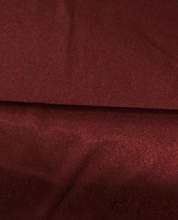 """Ткань Креп-сатин """"Бордовый"""" 0037 цвет бордовый картинка 1"""