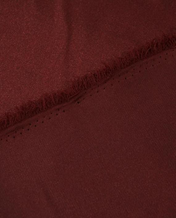 """Ткань Креп-сатин """"Бордовый"""" 0037 цвет бордовый картинка 2"""