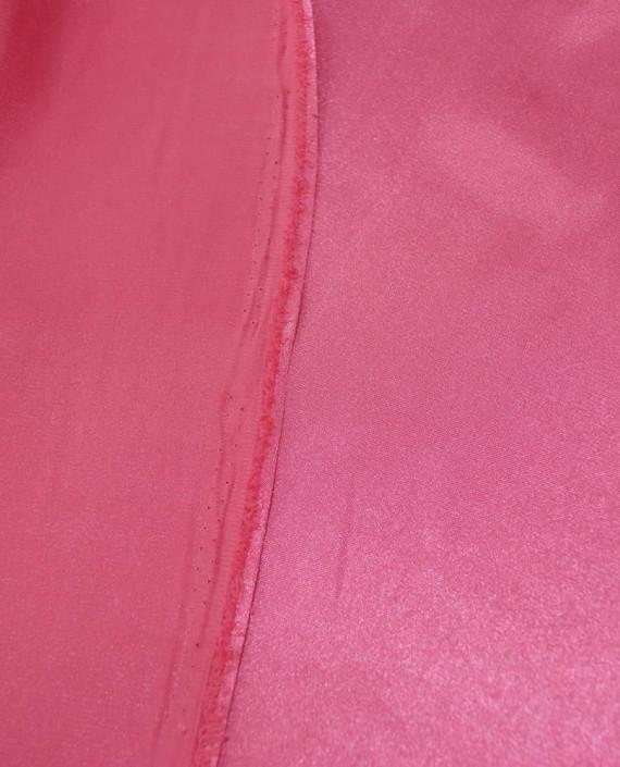 """Ткань Креп-сатин """"Малиновый"""" 0035 цвет розовый картинка 2"""