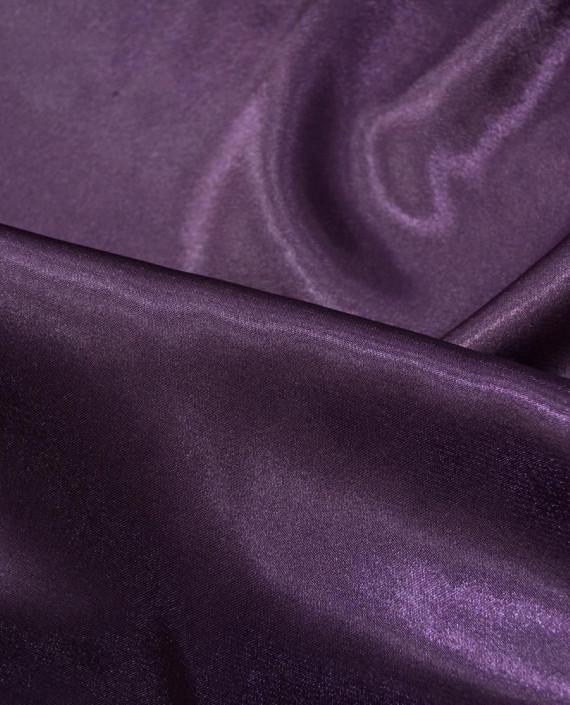 """Ткань Креп-сатин """"Сливовый"""" 0014 цвет фиолетовый картинка 1"""