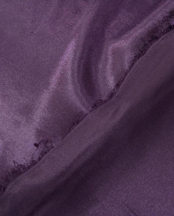 """Ткань Креп-сатин """"Сливовый"""" 0014 цвет фиолетовый картинка 2"""
