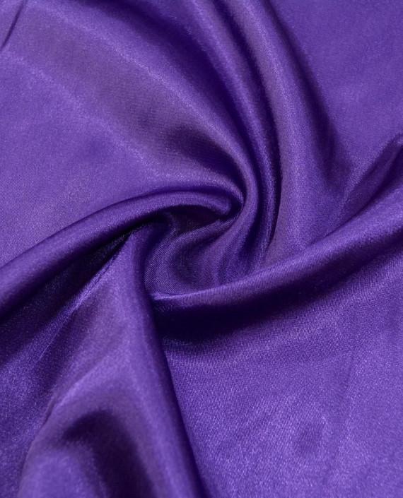 """Ткань Креп-сатин """"Темно-сиреневый"""" 0024 цвет фиолетовый картинка"""