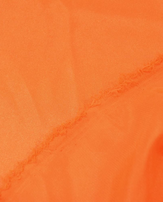 "Ткань Креп-сатин ""Оранжевый"" 0027 цвет оранжевый картинка 2"