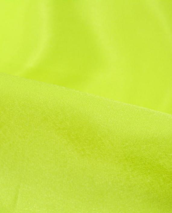 """Ткань Креп-сатин """"Нео-Зеленый"""" 0040 цвет зеленый картинка 1"""