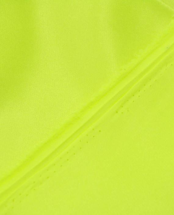 """Ткань Креп-сатин """"Нео-Зеленый"""" 0040 цвет зеленый картинка 2"""