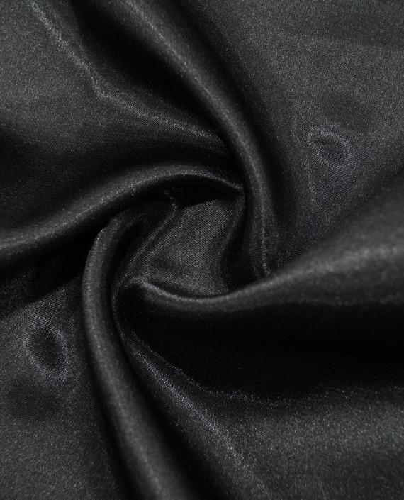 """Ткань Креп-сатин """"Черный"""" 0006 цвет черный картинка"""