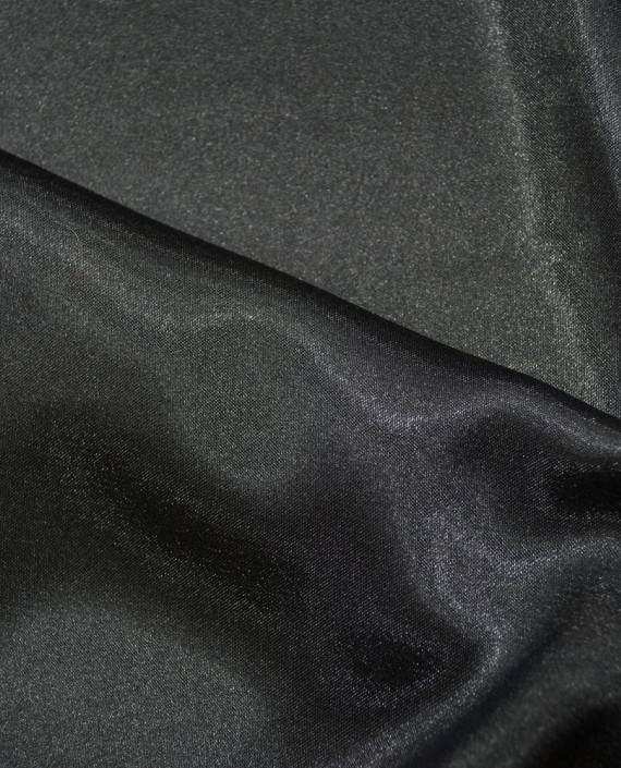 """Ткань Креп-сатин """"Черный"""" 0006 цвет черный картинка 1"""