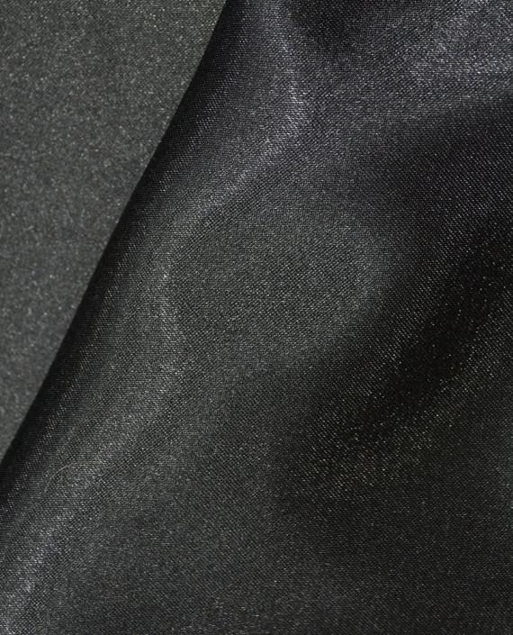 """Ткань Креп-сатин """"Черный"""" 0006 цвет черный картинка 2"""