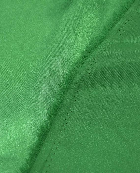 "Ткань Креп-сатин ""Зеленый"" 0041 цвет зеленый картинка 2"
