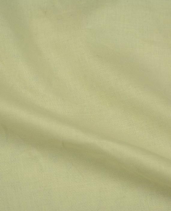 Ткань Лен Рубашечный 0421 цвет зеленый картинка 2