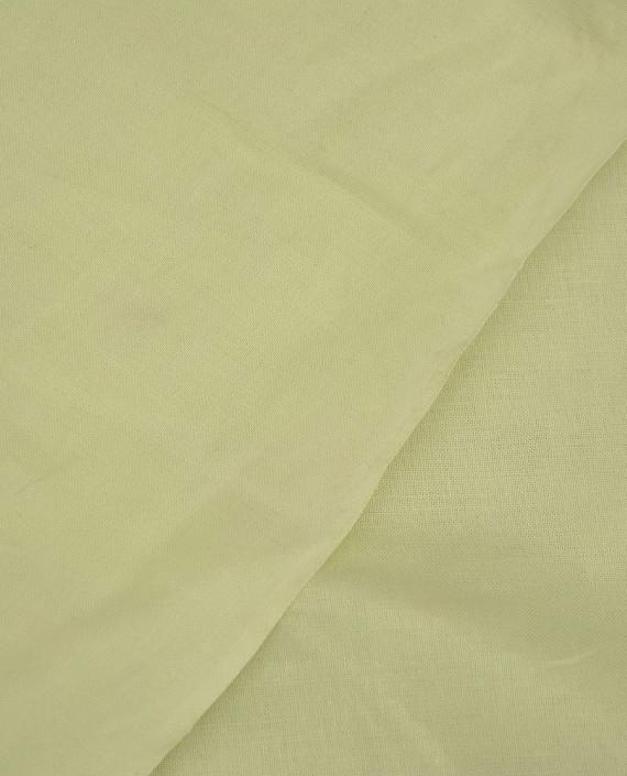 Ткань Лен Рубашечный 0421 цвет зеленый картинка 1