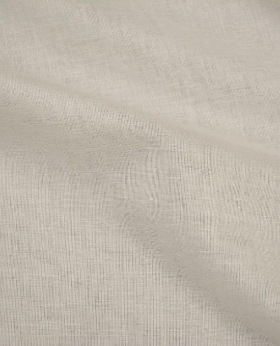 Ткань Лен Рубашечный 0433 цвет белый картинка 2