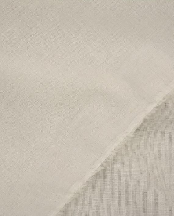 Ткань Лен Рубашечный 0433 цвет белый картинка 1