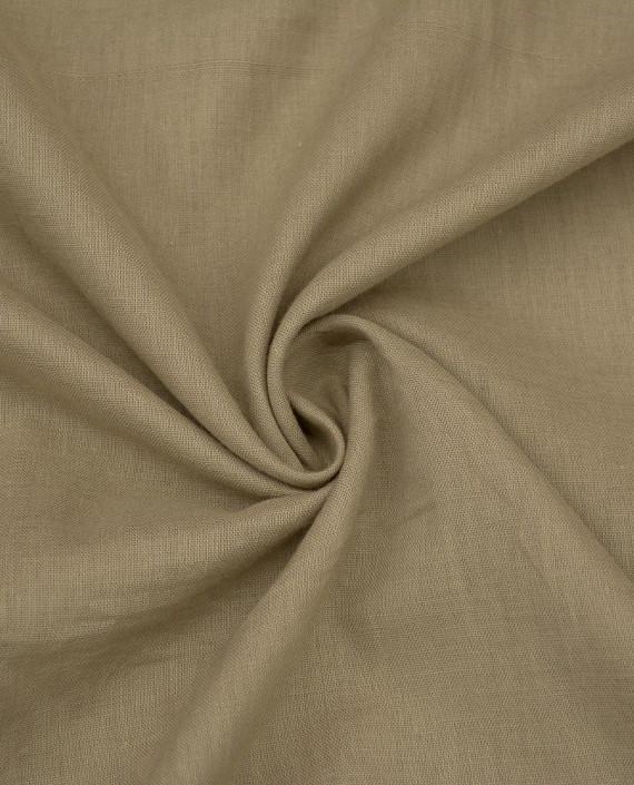 Ткань Лен Рубашечный 0441 цвет бежевый картинка