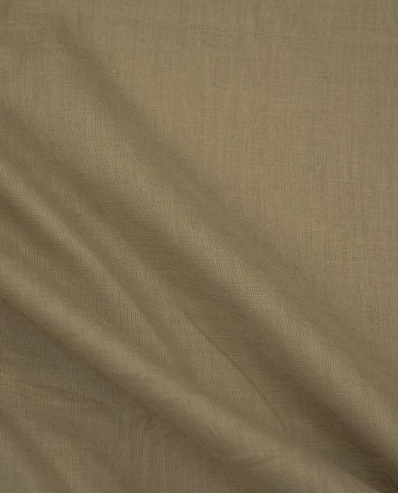 Ткань Лен Рубашечный 0441 цвет бежевый картинка 2