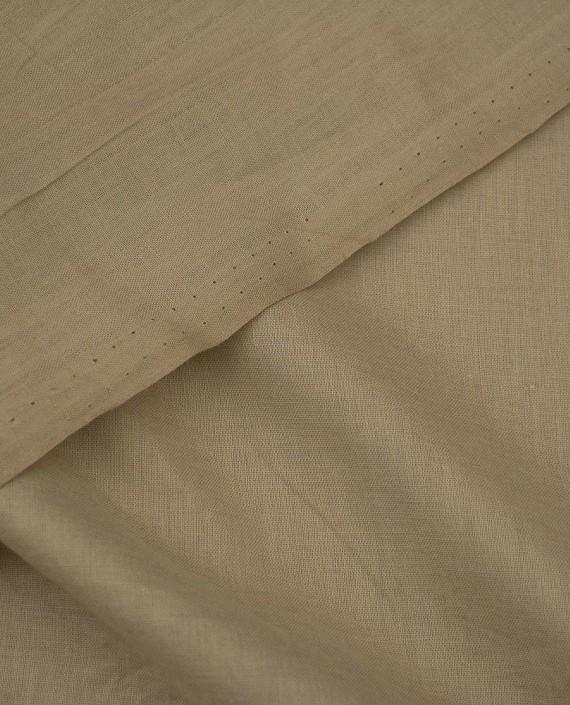 Ткань Лен Рубашечный 0441 цвет бежевый картинка 1