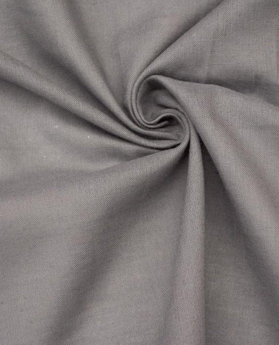 Ткань Лен Рубашечный 0467 цвет серый картинка