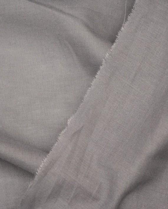Ткань Лен Рубашечный 0467 цвет серый картинка 1
