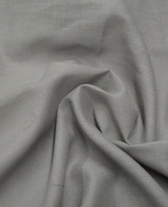 Ткань Лен Рубашечный 0613 цвет серый картинка