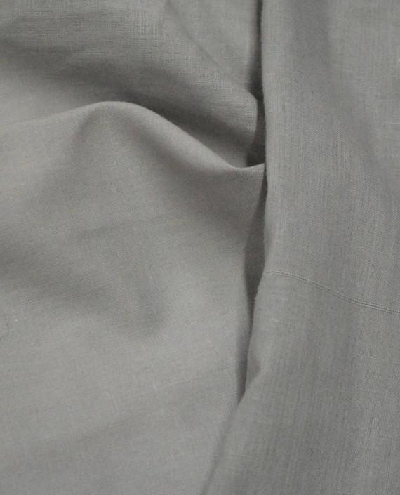 Ткань Лен Рубашечный 0613 цвет серый картинка 2