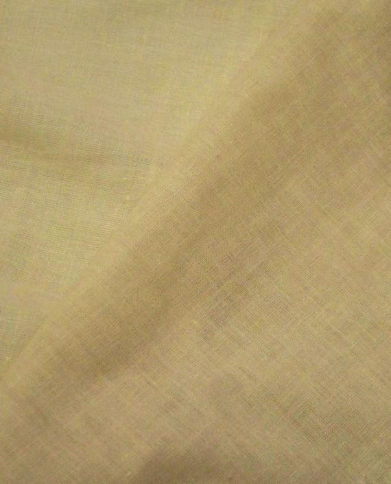 Ткань Лен Рубашечный 0618 цвет бежевый картинка 2