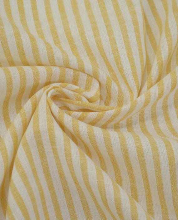Ткань Лен Рубашечный 0720 цвет оранжевый полоска картинка