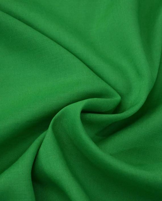 Ткань Лен Рубашечный 0729 цвет зеленый картинка