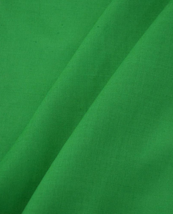 Ткань Лен Рубашечный 0729 цвет зеленый картинка 2