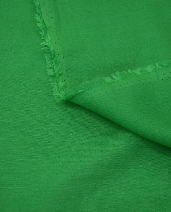 Ткань Лен Рубашечный 0729 цвет зеленый картинка 1