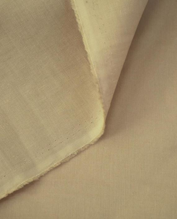Ткань Лен Рубашечный 0755 цвет бежевый картинка 1