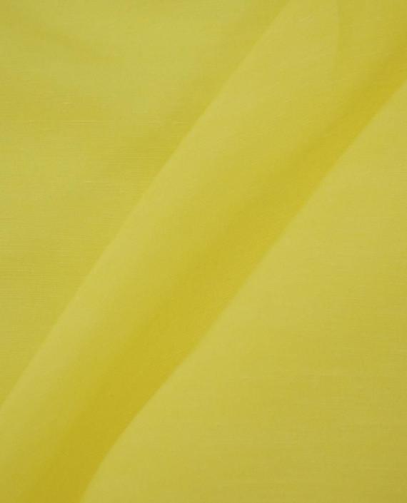 Ткань Лен Рубашечный 0757 цвет желтый картинка 2