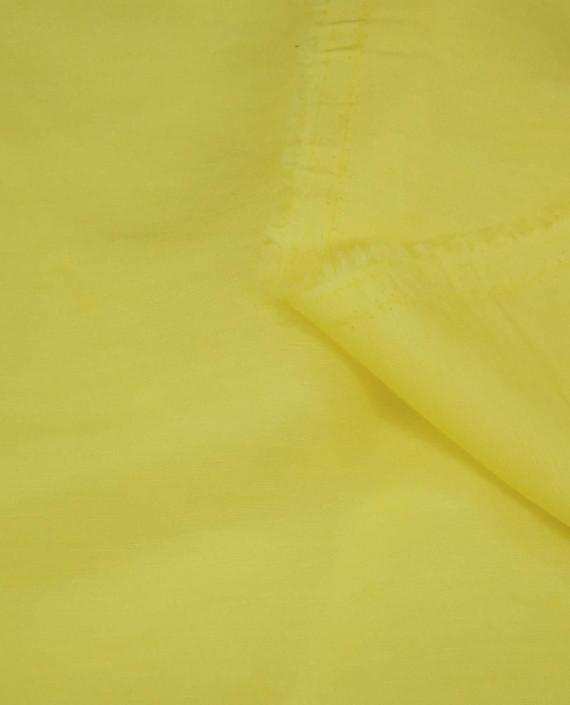 Ткань Лен Рубашечный 0757 цвет желтый картинка 1