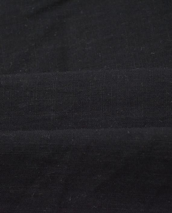 Лен Рубашечный 0839 цвет черный картинка 2