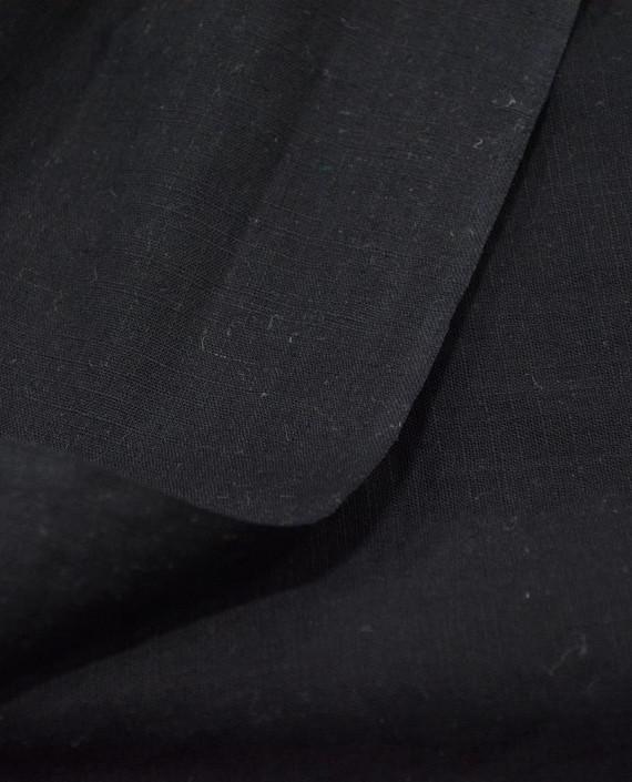 Лен Рубашечный 0839 цвет черный картинка 1