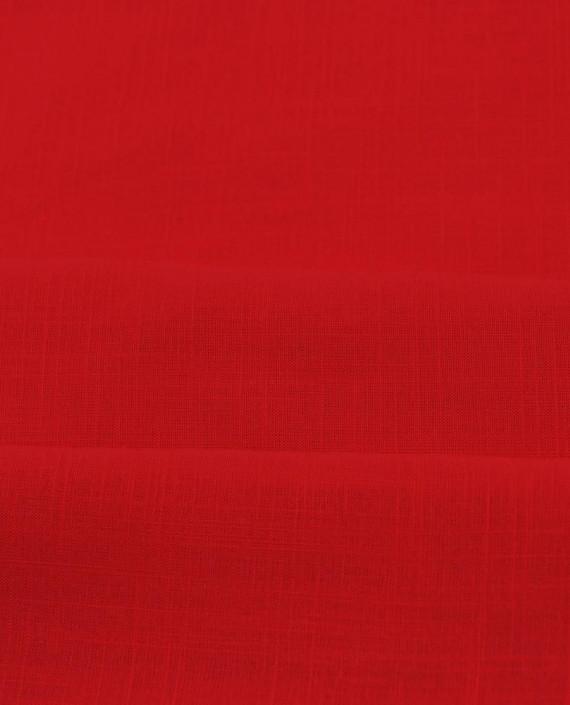 Лен Рубашечный 0851 цвет красный картинка 2