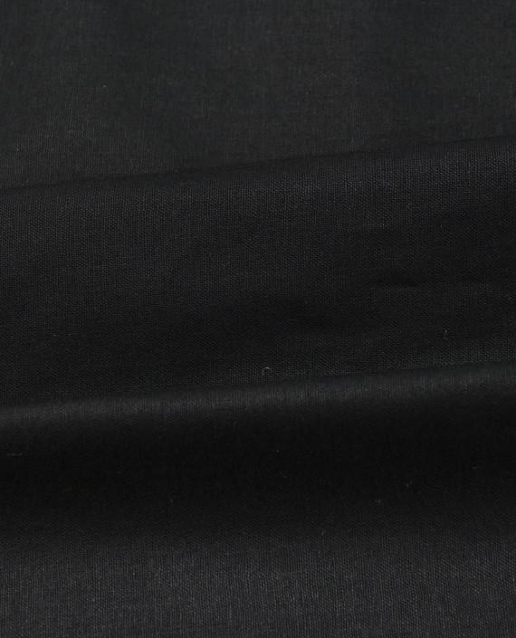 Лен Рубашечный 0871 цвет черный картинка 2