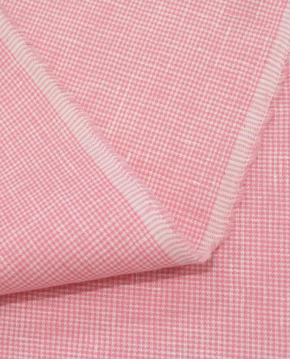 Лен рубашечный 0880 цвет розовый гусиная лапка картинка 2