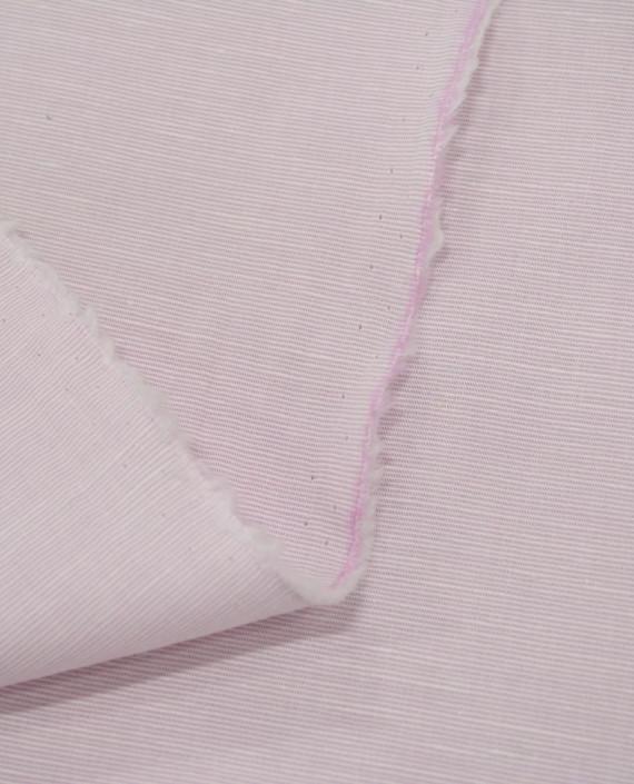 Лен рубашечный 0881 цвет розовый полоска картинка 1