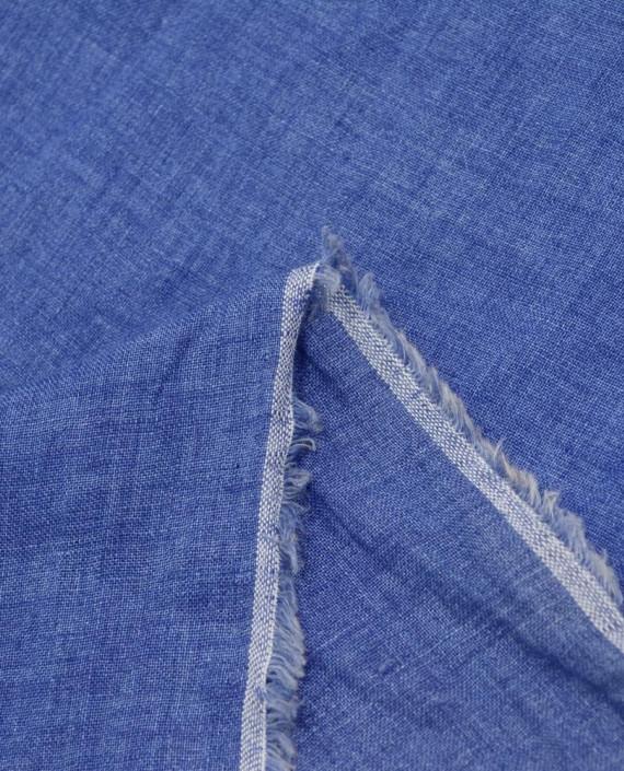 Лен рубашечный 0882 цвет синий картинка 2