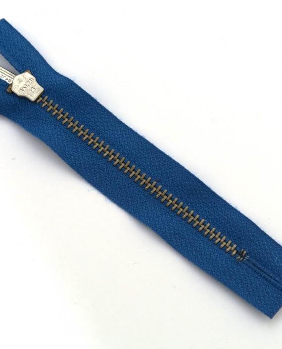 Молния 10 см металл, неразъемная 0009 цвет синий картинка 2