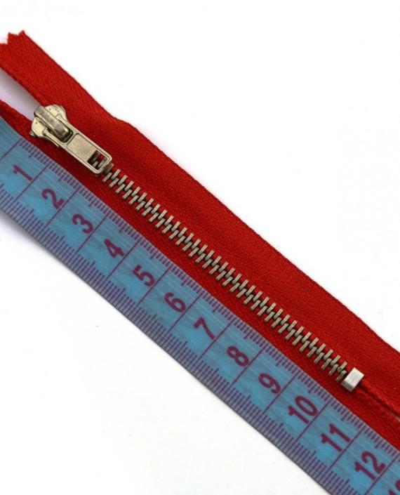 Молния 10 см металл, неразъемная 0010 цвет красный картинка 1