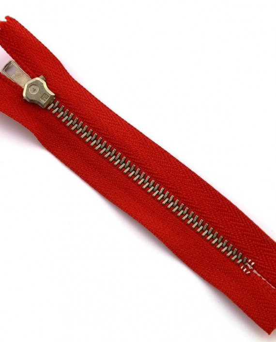 Молния 10 см металл, неразъемная 0010 цвет красный картинка 2