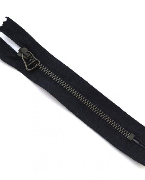 Молния 11 см металл, неразъемная, декоративная 0012 цвет черный картинка