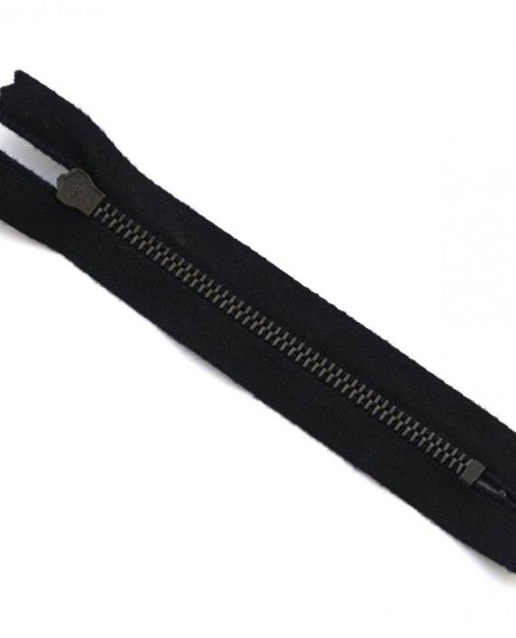Молния 11 см металл, неразъемная, декоративная 0012 цвет черный картинка 2