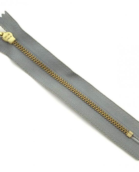Молния 14 см металл, неразъемная 0030 цвет серый картинка 2