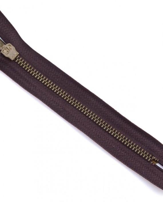 Молния 15 см металл, неразъемная 0041 цвет коричневый картинка 2