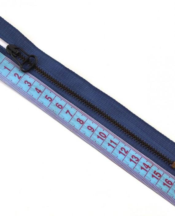 Молния 15 см металл, неразъемная 0042 цвет синий картинка 1